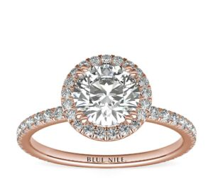 Studio Heiress Halo Diamond Engagement Ring in 18k Rose Gold (3/8 ct. tw.) by Blue Nile