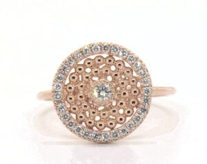 Dots Inner Circle Diamond Ring by James Allen