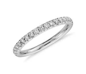 French Pavé Diamond Engagement Ring in 14k White Gold (1/4 ct. tw.) by Blue Nile
