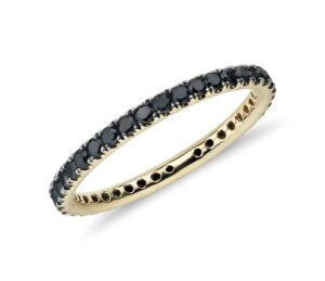 Riviera Noir Black Diamond Ring in 18k Yellow Gold (1/2 ct. tw.) by Blue Nile