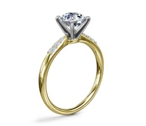 Petite Diamond Engagement Ring in 14k Yellow Gold (1/10 ct. tw.) by Blue Nile
