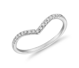 Diamond Chevron Stackable Fashion Ring by Blue Nile