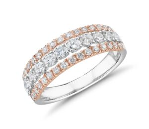 Diamond Graduated Triple Row Fashion Ring by Blue Nile