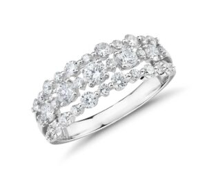 Diamond Three-Row Alternating Fashion Ring by Blue Nile