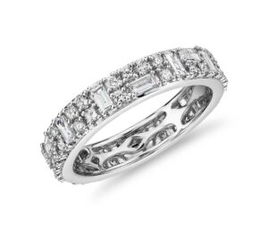 Double Dot Dash Diamond Eternity Ring by Blue Nile