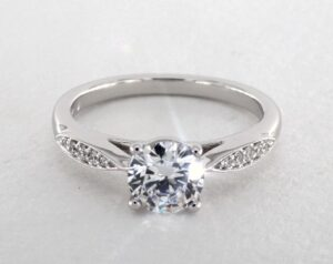 Martin Flyer Tapered Bead Set Diamond Engagement Ring by James Allen