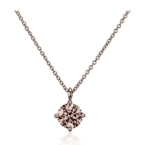 LIGHTBOX Lab-Grown Pink Diamond Round Solitaire Pendant Necklace