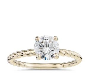 Twist Solitaire Engagement Ring by Blue Nile