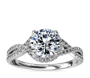 Twisted Halo Diamond Engagement Ring by Blue Nile