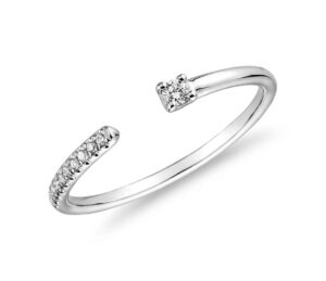 Ultra Mini Diamond Pave Open Stackable Fashion Ring by Blue Nile