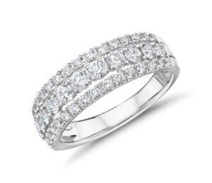 Triple Row Diamond Fashion Ring by Blue Nile