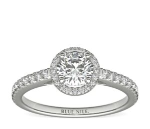 Classic Halo 1/2 Carat Diamond Engagement Ring by Blue Nile
