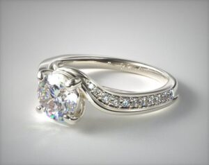 Round Diamond Bypass Engagement Ring by James Allen