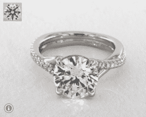 7.00 Carat Round Twisted Pave Shank Contemporary Diamond Ring by James Allen