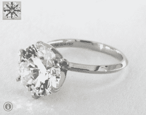 7.01 Carat Round Solitaire (Six Prong) Diamond Ring by James Allen