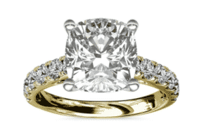 7.02 Carat Cathedral Pavé Diamond Ring by Blue Nile