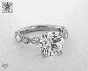 7.06 Carat Round Marquise Shape Diamond Ring by James Allen