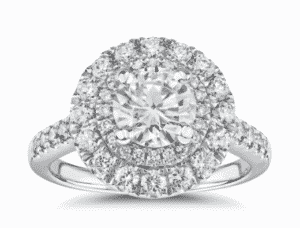 7.43 Carat Double Halo Diamond Ring by Blue Nile