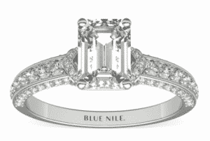 8.08 Carat Emerald Imperial Micropavé Diamond Ring by Blue Nile