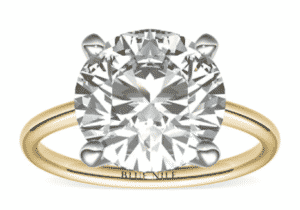 8.16 Carat Round Cut Petite Solitaire Diamond Ring by Blue Nile