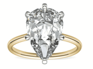 9.00 Carat Pear Petite Solitaire Diamond Ring by Blue Nile