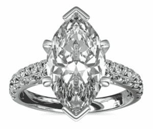 9.11 Carat Marquise Riviera Cathedral Pavé Diamond Ring by Blue Nile