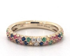 Double Row Pave Multicolor Ring by James Allen
