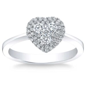 Heart-Shaped Round Brilliant Diamond 0.44 ct. 14k White Gold Ring by Costco Jewelry