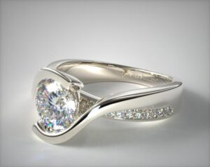 James Allen Intertwined Bypass Tension Setting 0.50-Carat Round-Cut Diamond Ring in White Gold
