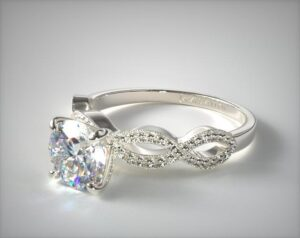 James Allen Vintage Infinity 1.2-Carat Princess-Cut Diamond Ring in White Gold