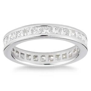 Princess-Cut 2.00 ct. Platinum Channel Set Diamond Eternity Band by Costco Jewelry