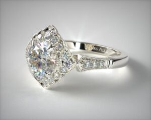 Regal Frame Diamond Engagement Ring by James Allen