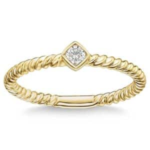 Round Brilliant 0.08 ct. Stackable Diamond Band by Costco Jewelry