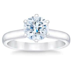 Round Brilliant 1.25 ct VS2 Clarity, I Color Diamond Platinum Solitaire Ring