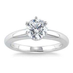 Round Brilliant 1.50 ct. Diamond Platinum Band by Costco Jewelry