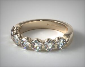 Seven Stone Shared Prong Diamond Anniversary Ring by James Allen
