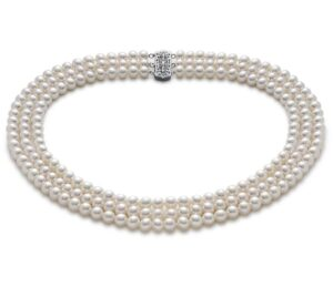 Triple-Strand Freshwater Cultured Pearl Strand Necklace by Blue Nile