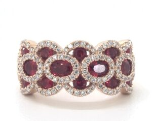 Wavy Ruby and Diamond Ring by James Allen