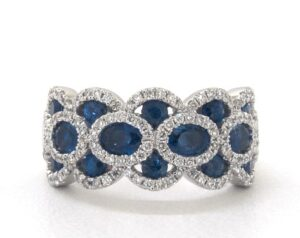 Wavy Sapphire and Diamond Ring by James Allen
