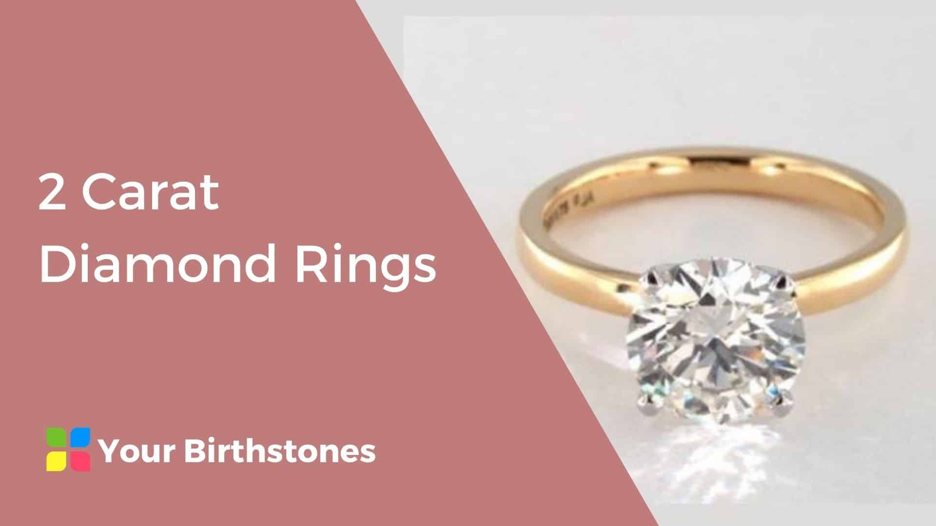 best 2 carat diamond rings